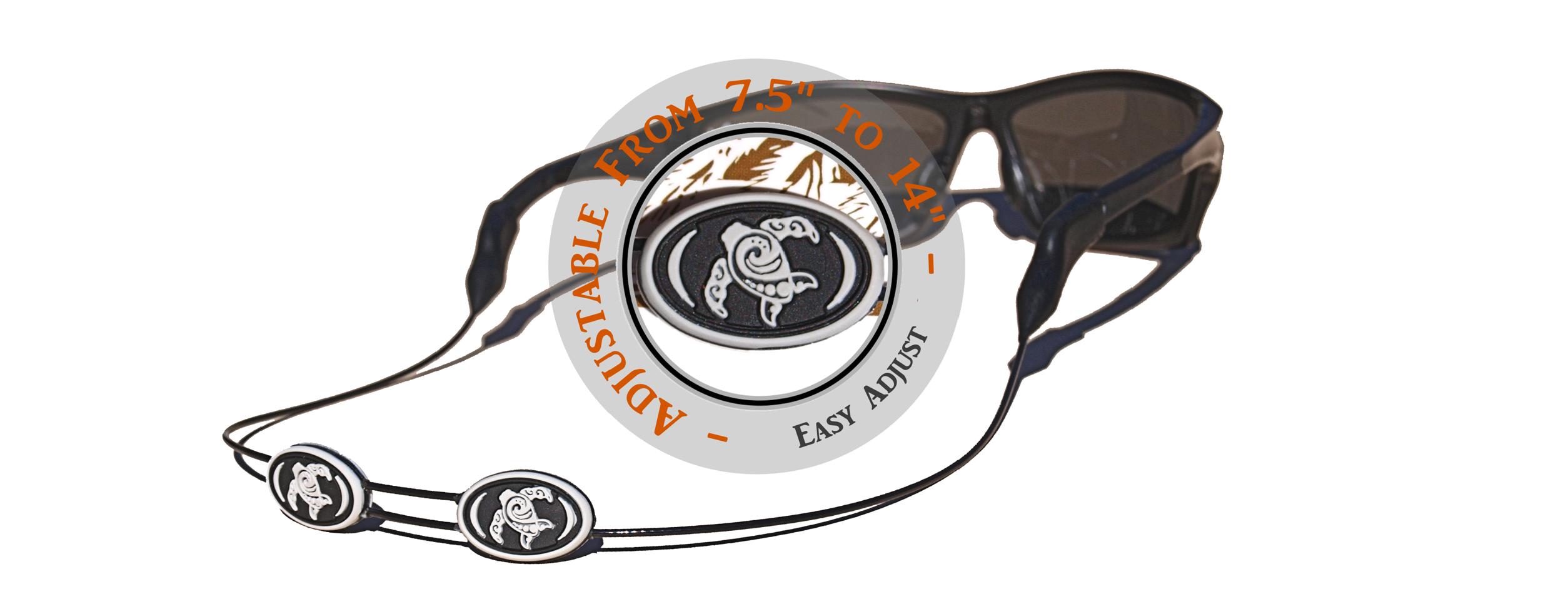Tortuga Straps LINEZ Gray on Black Adjustable Glasses Strap