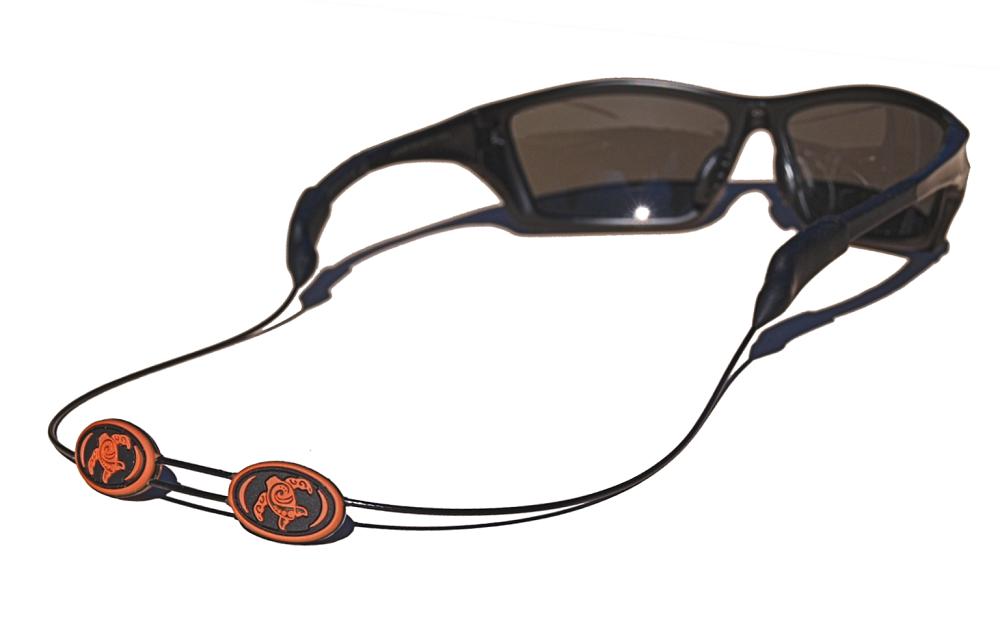 Tortuga Straps LINEZ Orange on Black Adjustable Sunglasses Strap