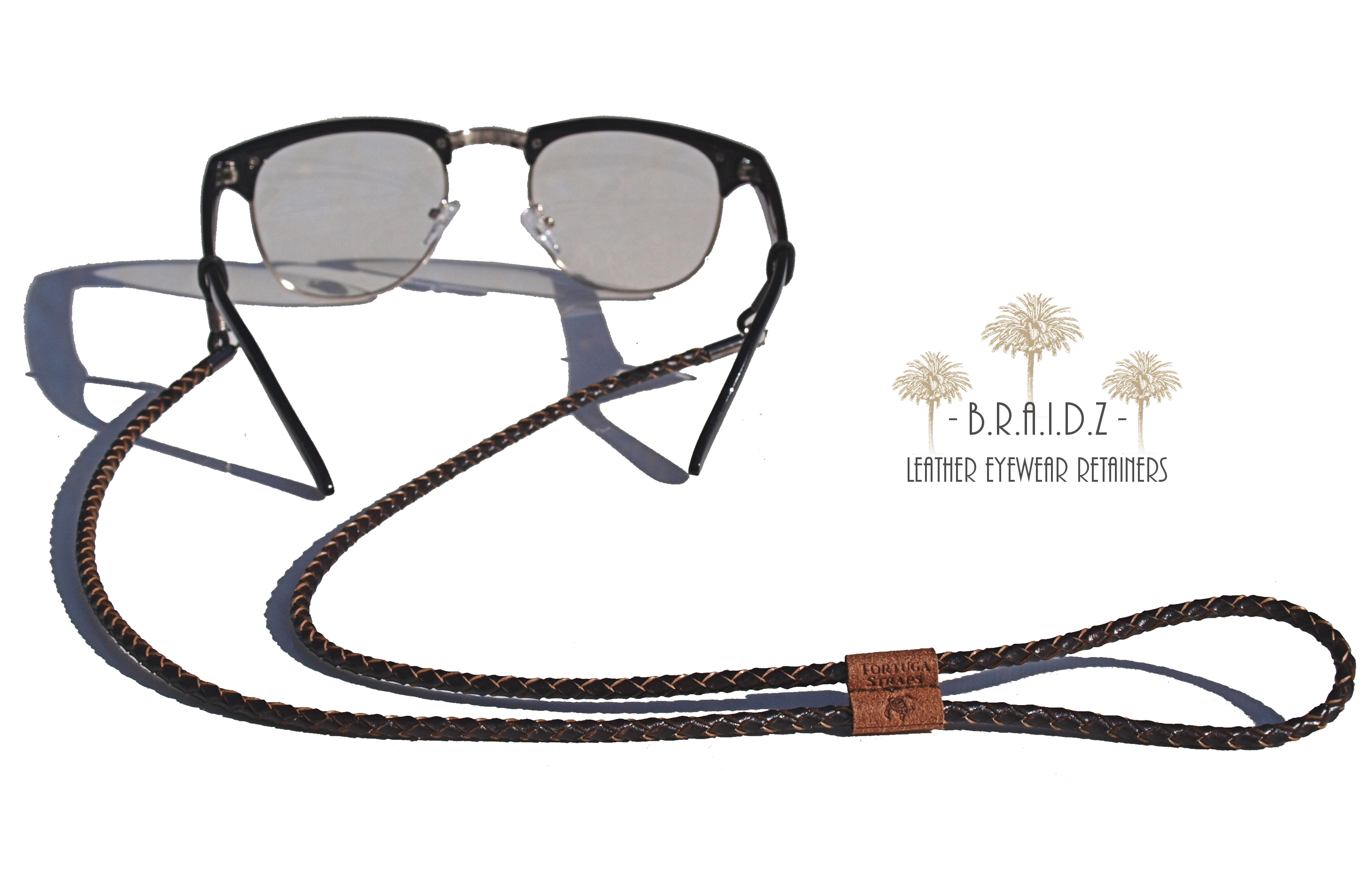 Tortuga Straps Adjustable Leather Eye Glasses Straps Lanyard Chain