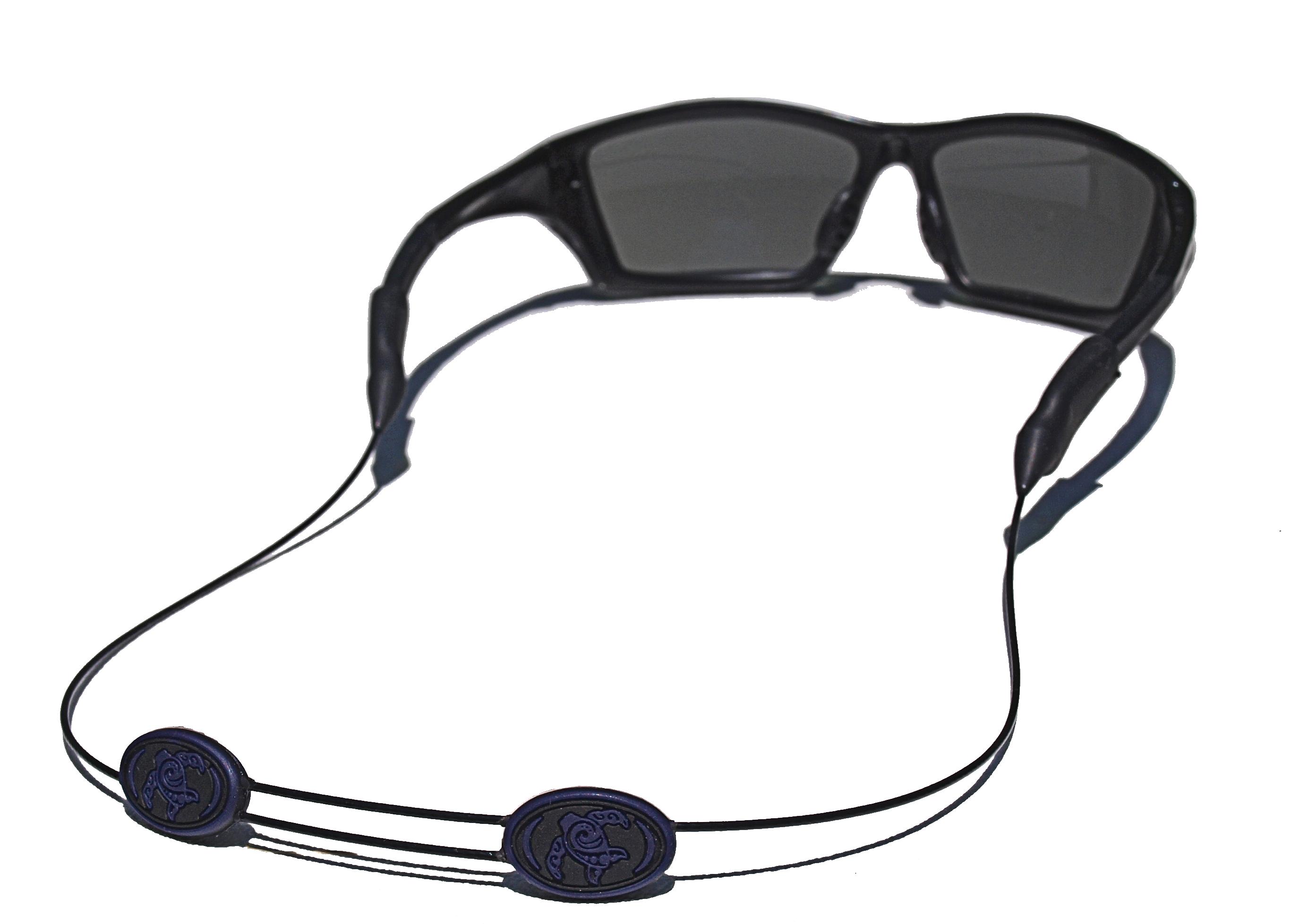 Tortuga Straps LINEZ Orange on Black Adjustable Glasses Retainer